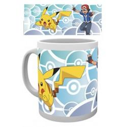Mug POKEMON - Sacha & Pikachu