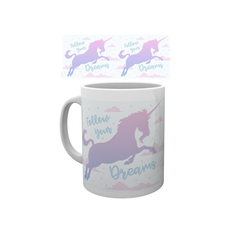 licorne fluffy unicorn mug licorne follow your dream. Black Bedroom Furniture Sets. Home Design Ideas