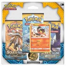 CARTE POKEMON : Pack 3 Boosters Soleil et Lune