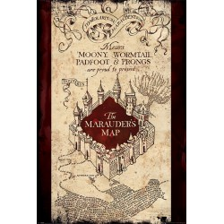 Maxi Poster HARRY POTTER - Carte du Marauder