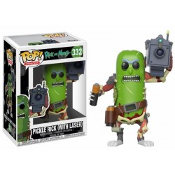 Figurine Pop RICK ET MORTY - Pickle Rick With Laser