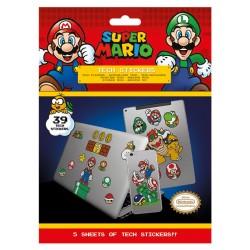 Pack de stickers SUPER MARIO