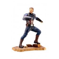 Statuette AVENGERS INFINITY WARS - Gallery diorama Captain America 23 cm