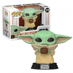 Figurine Pop STAR WARS - Mandalorian: Baby Yoda With Cup