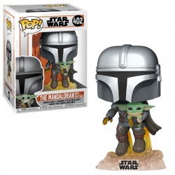 Figurine Pop STAR WARS - Mandalorian: Mando Flying & Child