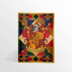 Carte de vœux HARRY POTTER - Gryffondor