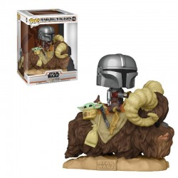 Figurine Pop STAR WARS - The Mandalorian - The Mandalorian & The Child On Bantha