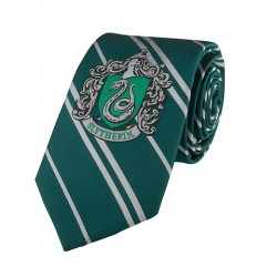Cravate Serpentard -HARRY POTTER- Adulte logo tissé